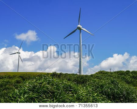Wind power station in Yonaguni Island