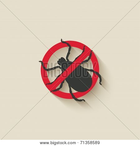 mite warning sign