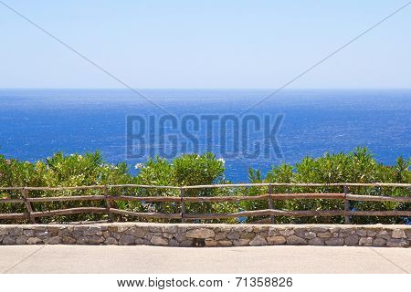 Promenade With Beautiful Sea View In Greece
