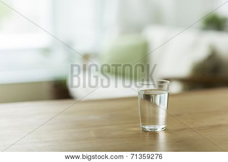 Glass with the water