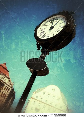 Old Street Watch In A Manipulated Image