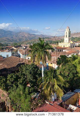 aerial view of Trinidad with Lucha Contra Bandidos Cuba.