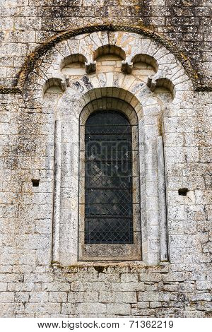 Fine Romanesque Window In The Church Of Saint Amand De Coly France