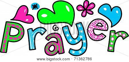 Prayer Cartoon Text Expression