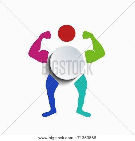 vector concept muscle body