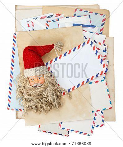 Vintage Air Mail Envelopes, Santa Claus Post