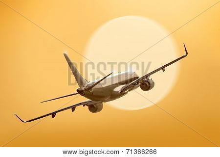 Passenger Plane Fly