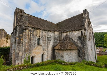 Saint Amand De Coly Church In Dordigne ,france