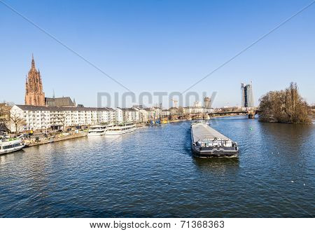 View To River Main With Boat