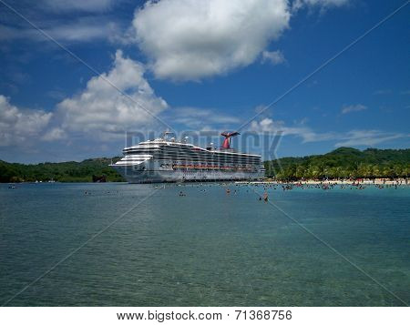 Carnival Conquest in port