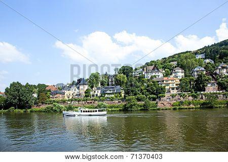 River Cruise Ship On The Neckar