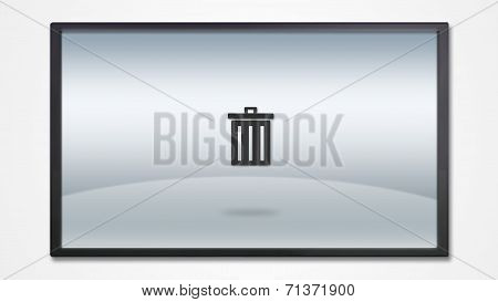 Screen Display With Trash Icon