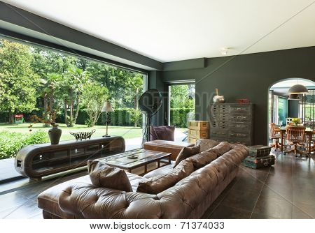 beautiful living room, classic furniture, interior