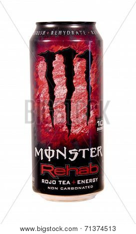 Can Of Monster Rojo Tea Energy Drink