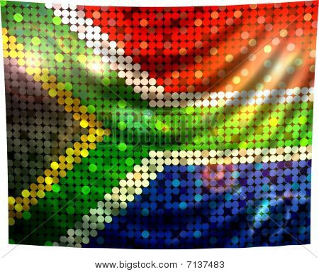 Sparkling Flag Of South Africa