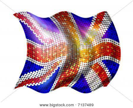 Sparkling Flag Of United Kingdom