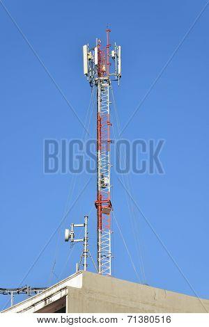 Antenna Of Radio Communication And Satellite Tower