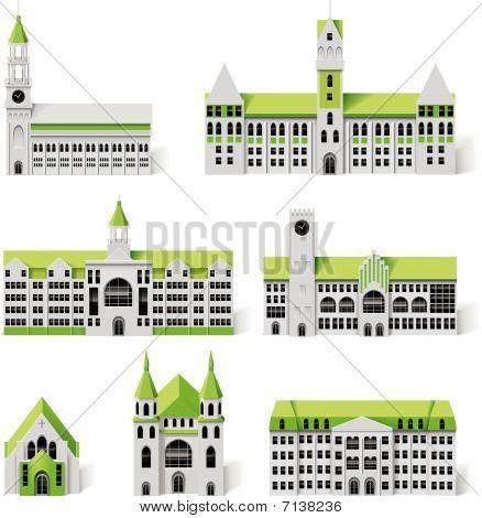 City plan creation kit (DIY). Part 6. Buildings