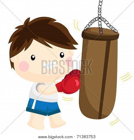 Boxing On Sandsack