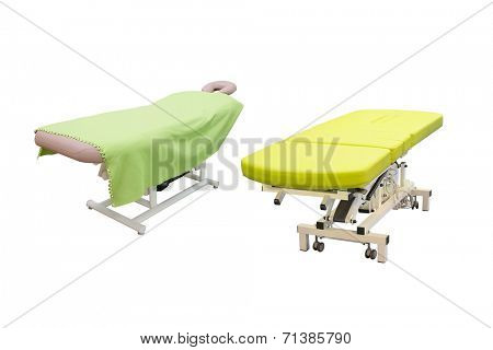 massage bed in a beauty salon