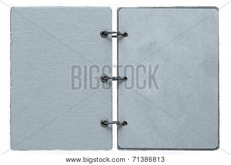 Open Notebook Of Silvery Color