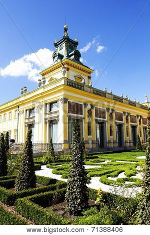 Royal Palace In Warsaw In Wilanow, Poland