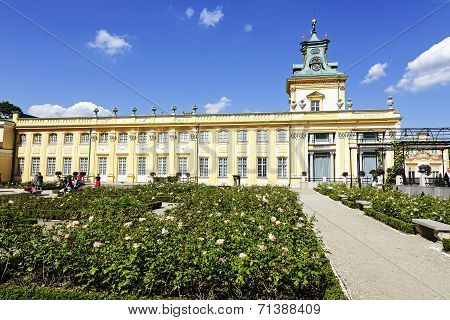 Royal Palace In Warsaw's Wilanow In Poland