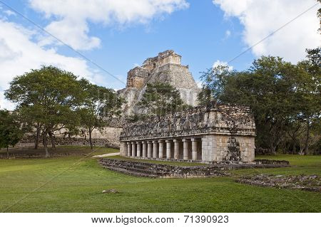 Uxmal Pyramid In Mexiko