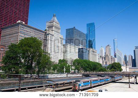 In A Subway Station Van Buren Street In Chicago