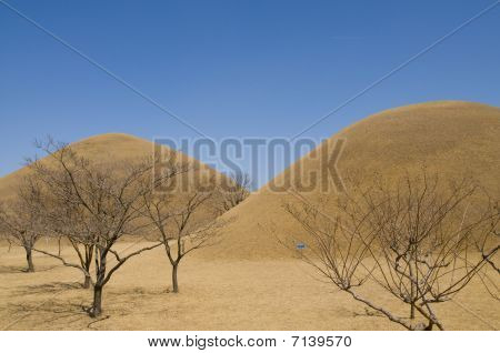 Korean Burial Mounds.