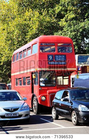 London red double decker bus