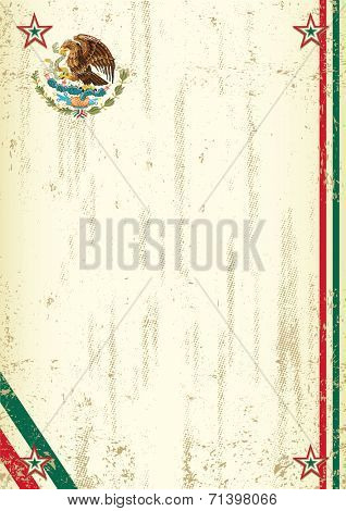 retro mexican background. A vintage mexican background with a texture for your advertising