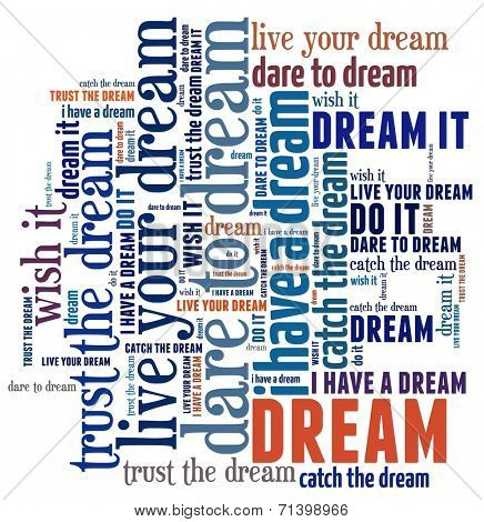 Dream in word collage