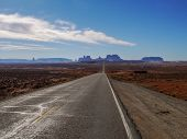 pic of bute  - Road to Monument Valley. This point is Gump Point Forest Gump stopped his running here.