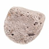 foto of pumice-stone  - a small decorative stone isolated over a pure white background - JPG