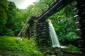 foto of gatlinburg  - Water flows down a flume to power an 18th century grist mill - JPG