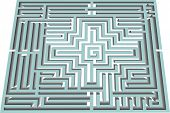 pic of minos  - vector illustration of a maze and labyrinth - JPG