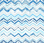 picture of zigzag  - Colorful stripes seamless zigzag pattern - JPG