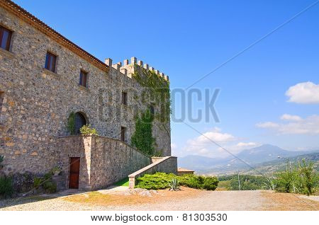 Castle of Viggianello. Basilicata. Italy.