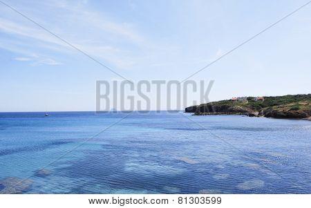 View of the island of Sant 'Antioco, Sardinia