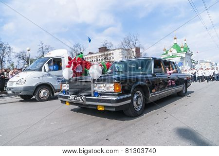 Soviet luxury car ZIL-41047 on parade