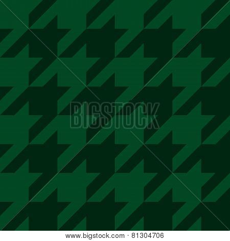 vector houndstooth seamless green pattern
