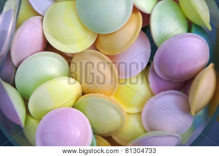 flying saucer multi colored candy