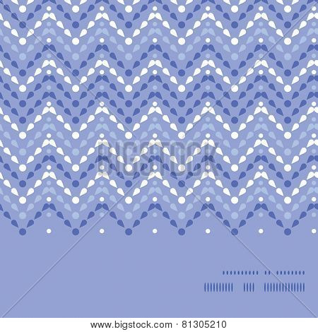 Vector purple drops chevron horizontal frame seamless pattern background