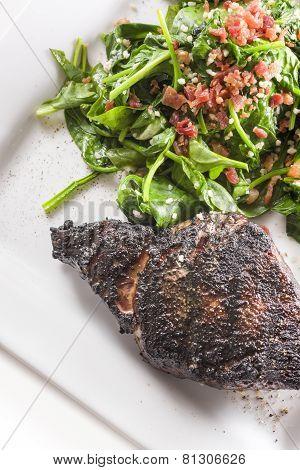 Freshly Seared Ribeye Steak