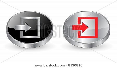 Enter icon, button.