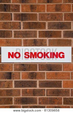 No Smoking Sign on Wall