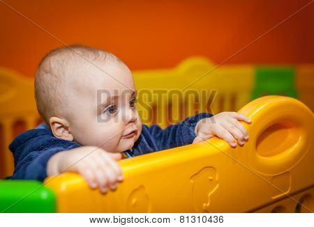 Little boy in an indoor playground
