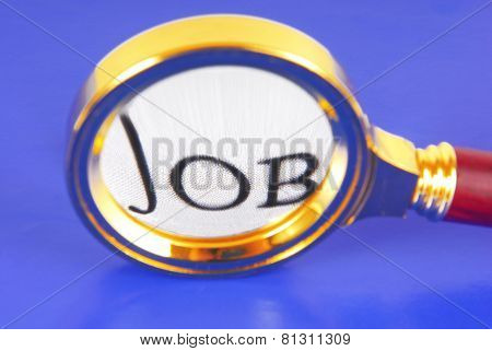 magnifying glass job concept