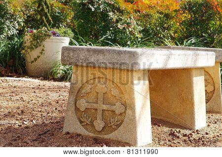 Church Benched in Garden